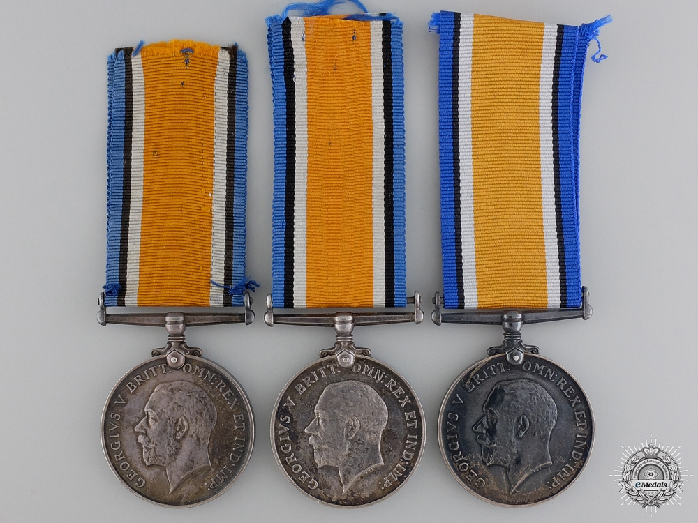 Three First War British War Medals to the Air Service