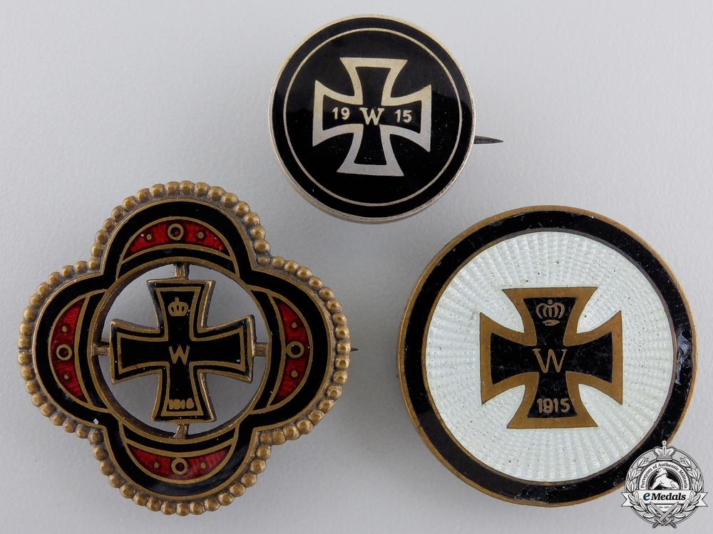 Three First War German Iron Cross Badges
