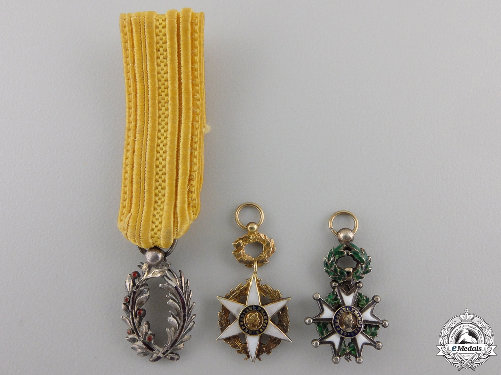Three French Miniature Orders