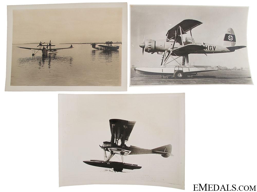 Three German Seaplane Photographs