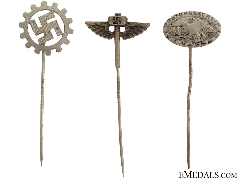 Three German Stick Pins