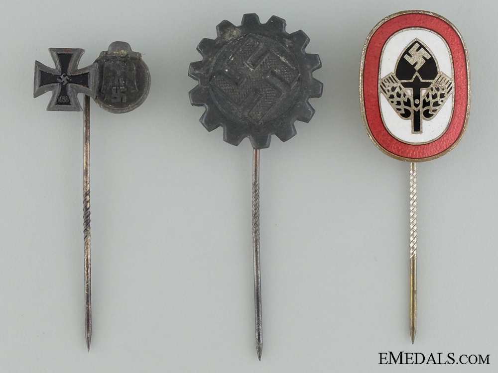 Three German Stickpins