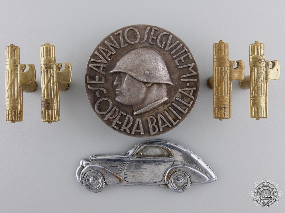 Three Italian Badges