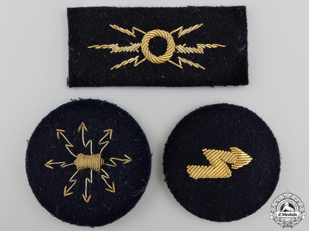 Three Kreigsmarine Officer's Career Sleeve Insignia