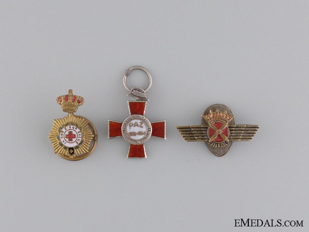 Three Miniature Spanish Medals