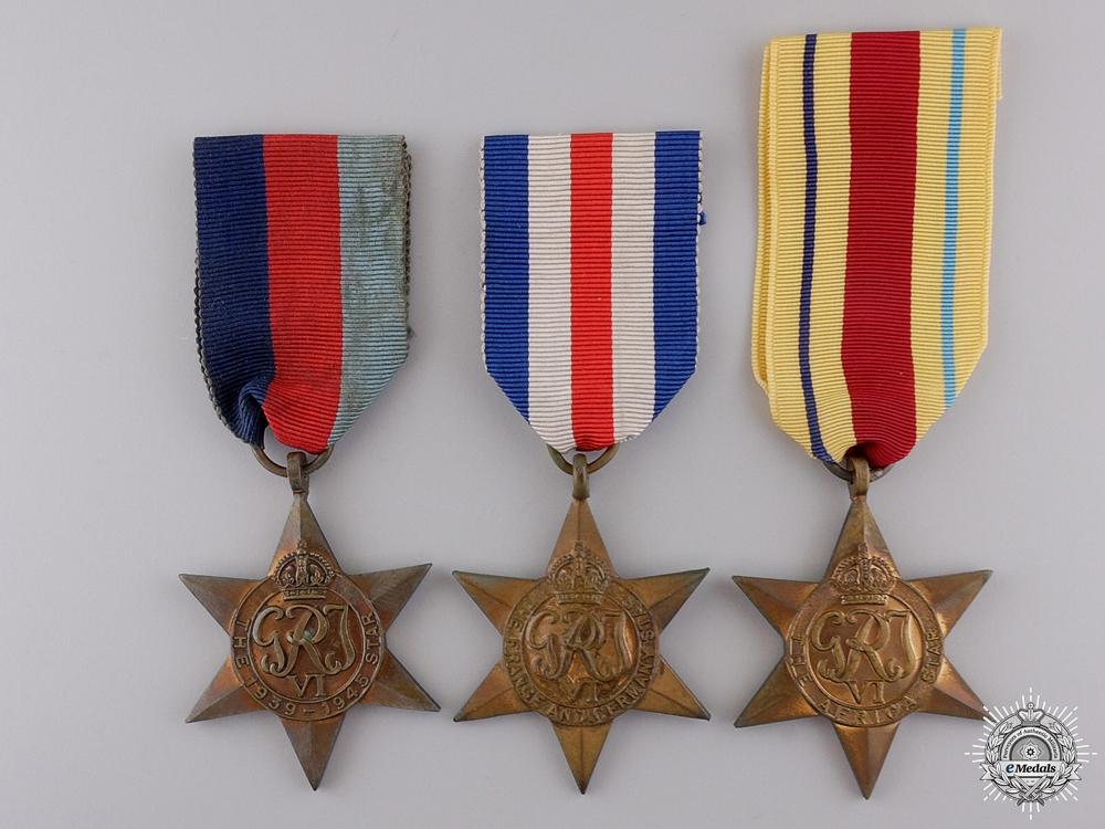 Three Second War British Campaign Stars