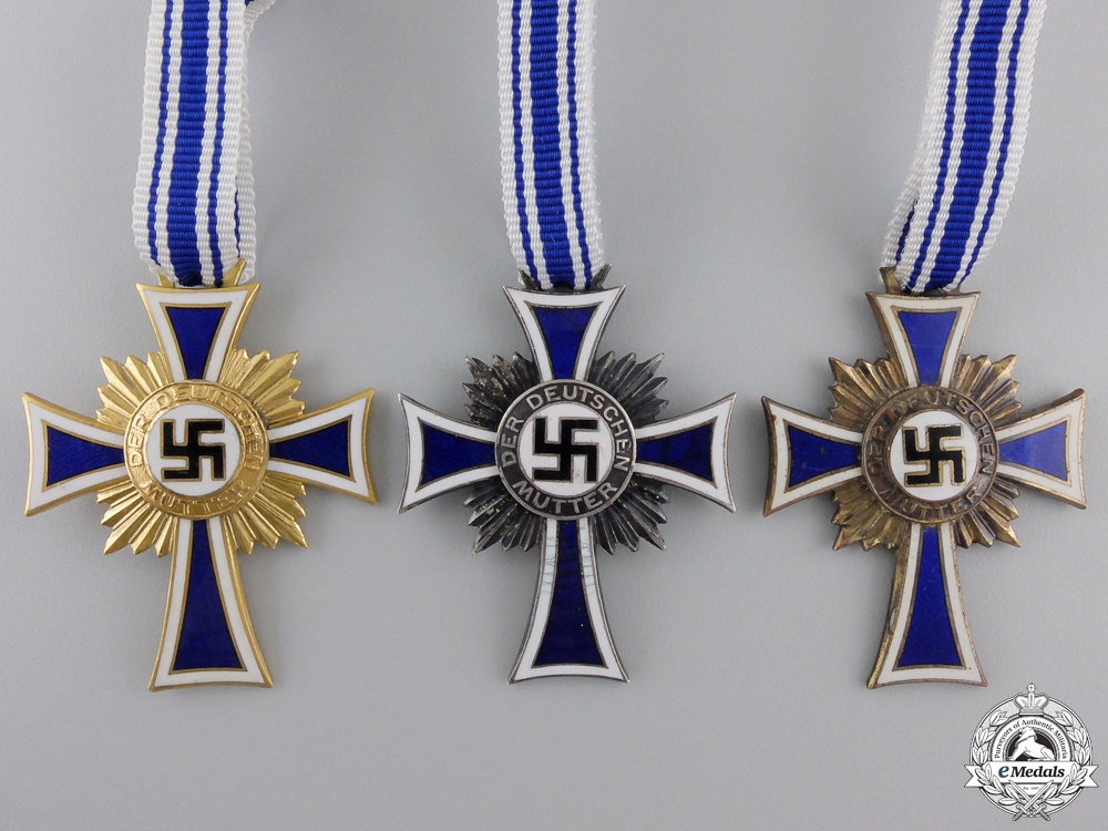 Three Second War German Mother's Crossess