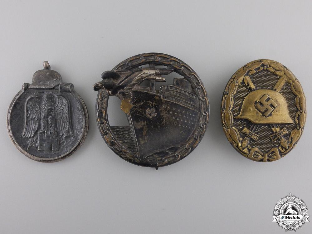Three Second War German Awards and Badges