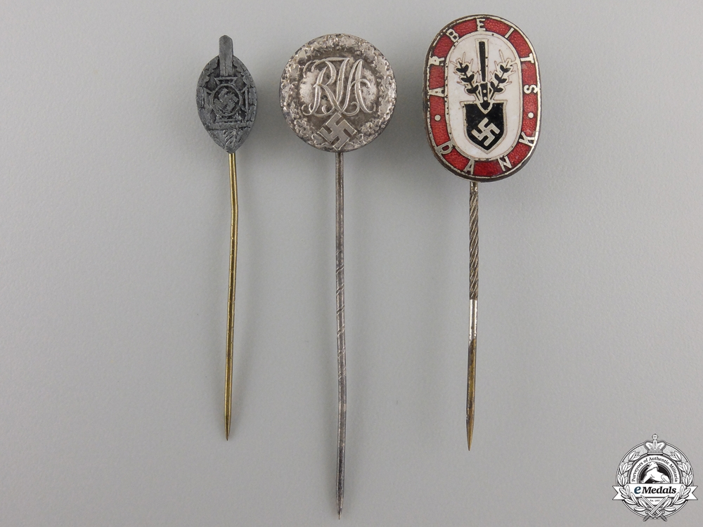Three Second War Period German Stick Pins