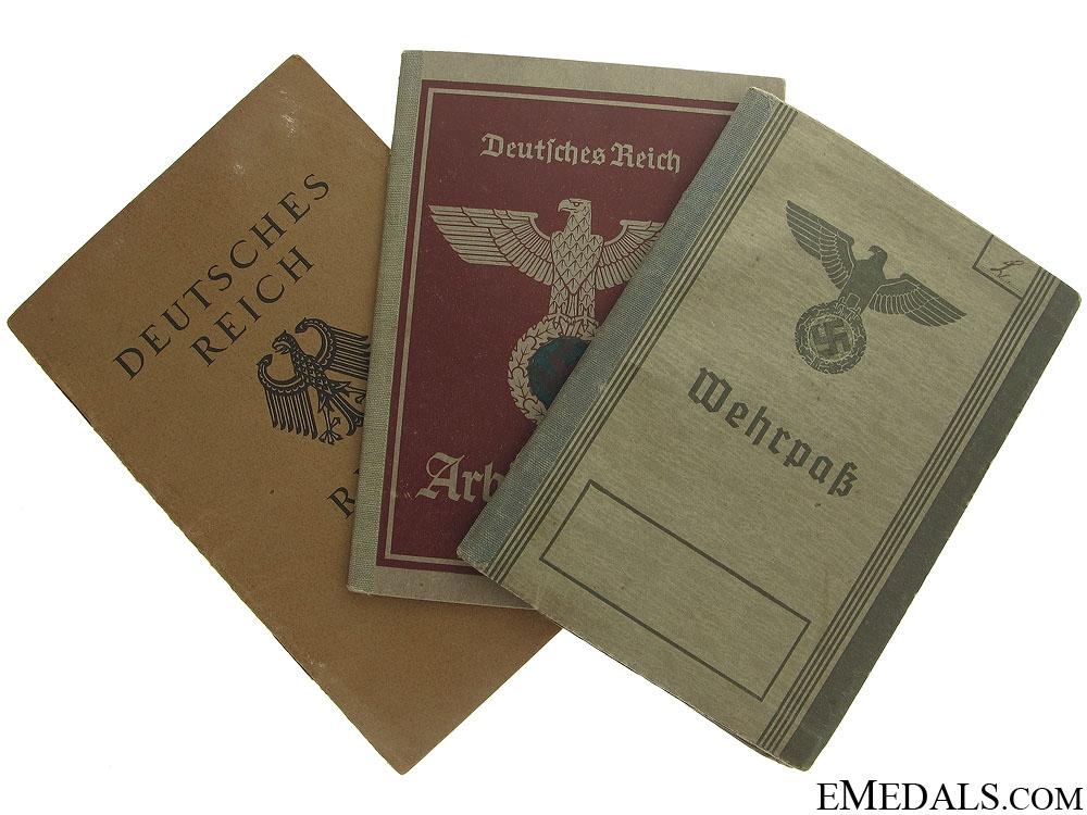 Three Third Reich ID Documents