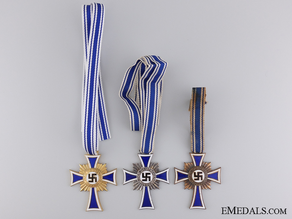 Three Third Reich German Mother's Crosses