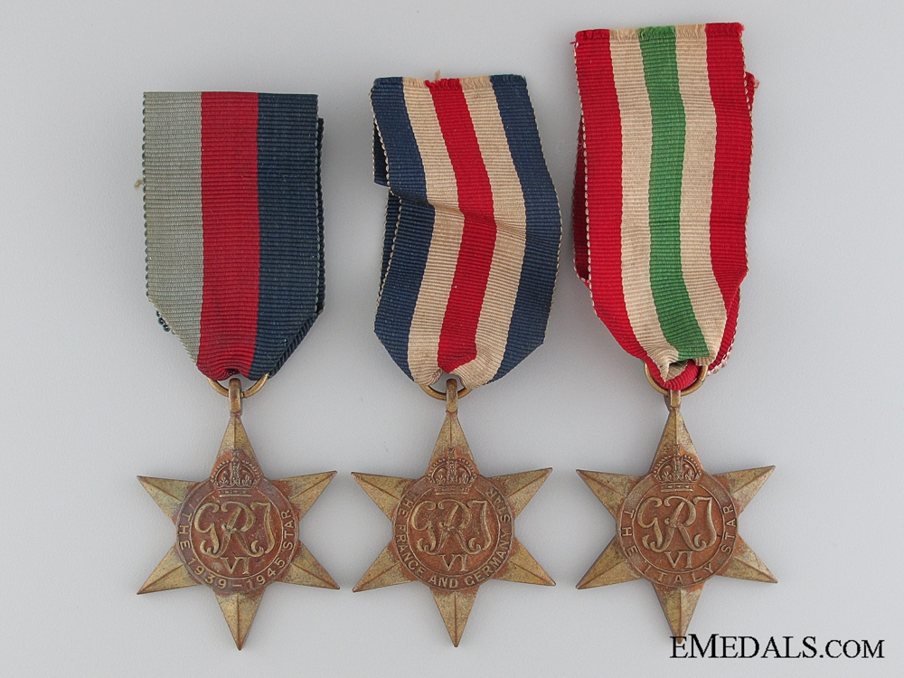 Three WWI Campaign Stars