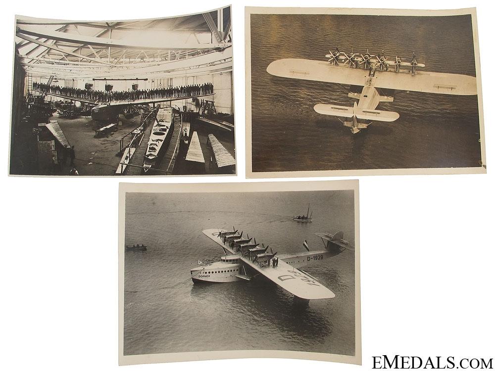 Three WWII German Seaplane Photographs