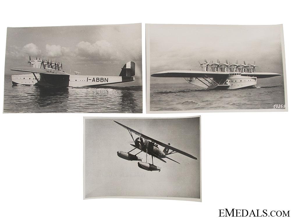 Three WWII Period Seaplane Photographs