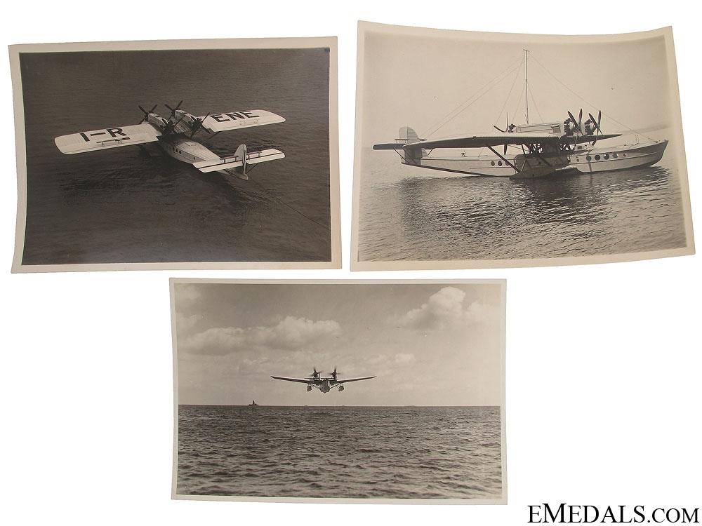 Three WWII Seaplane Photographs