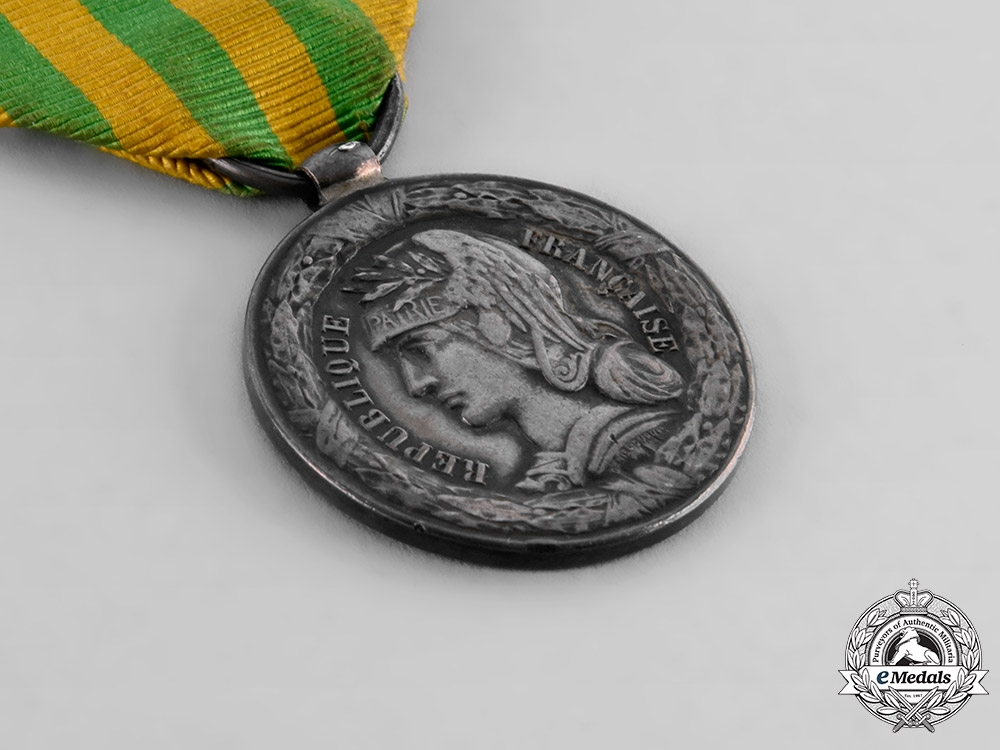 France, III Republic. A Tonkin Expedition Commemorative Medal for the Navy 1885