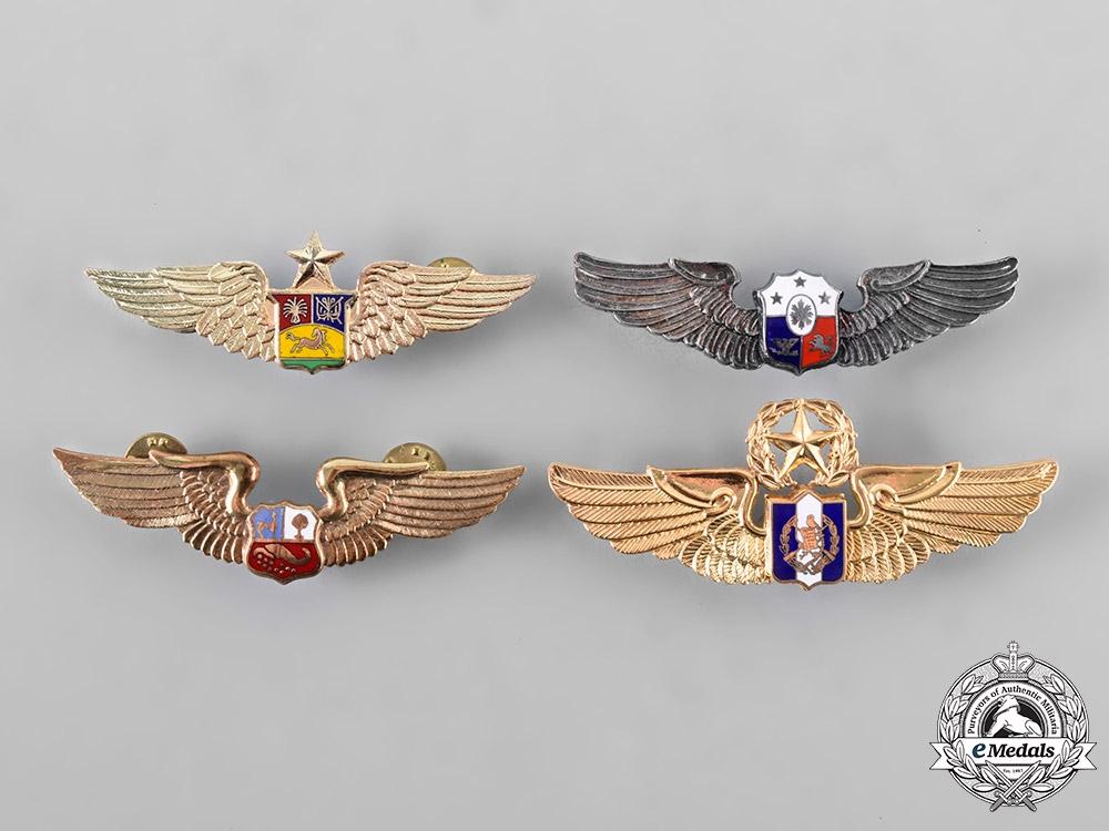 Guatemala, Peru, Philippines, Venezuela. A Lot of Four Air Force Pilot Badges