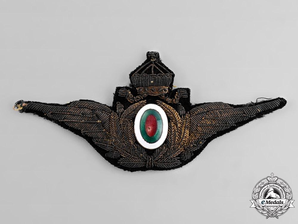 Bulgaria, Kingdom. An Air Force Officer's Cap Badge, c.1935