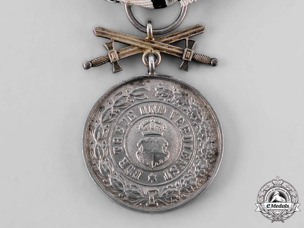 Hohenzollern, State. A House Order of Hohenzollern SIlver Merit Medal with Swords, c.1914