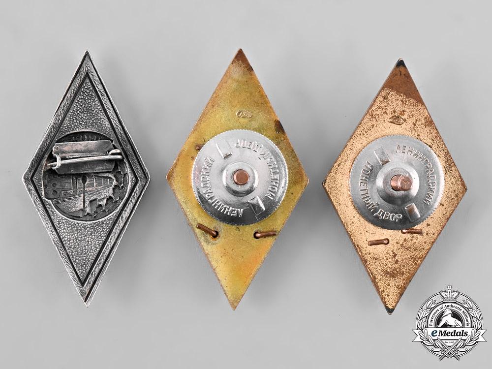 Russia, Soviet Union. A Lot of Graduation Badges
