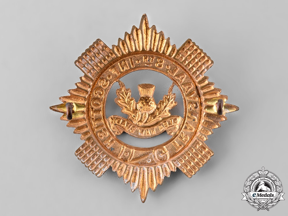 South Africa, Republic. An 8th Infantry Transvaal Scottish Regiment Glengarry Badge