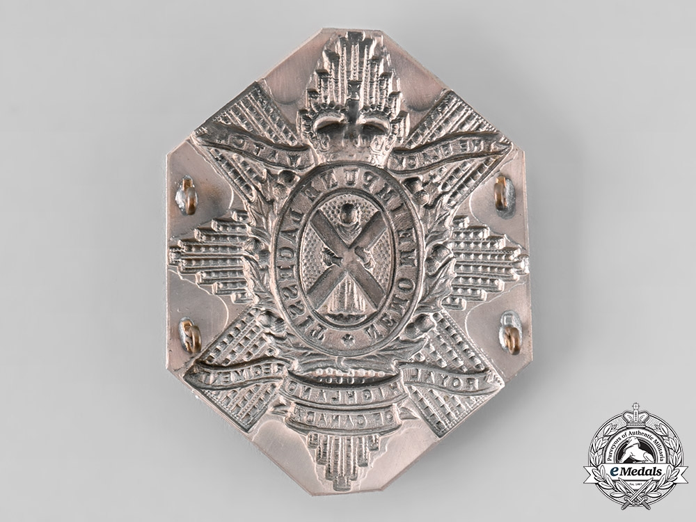 Canada, Commonwealth. QEII The Black Watch (Royal Highland Regiment) of Canada Cross Belt Plate