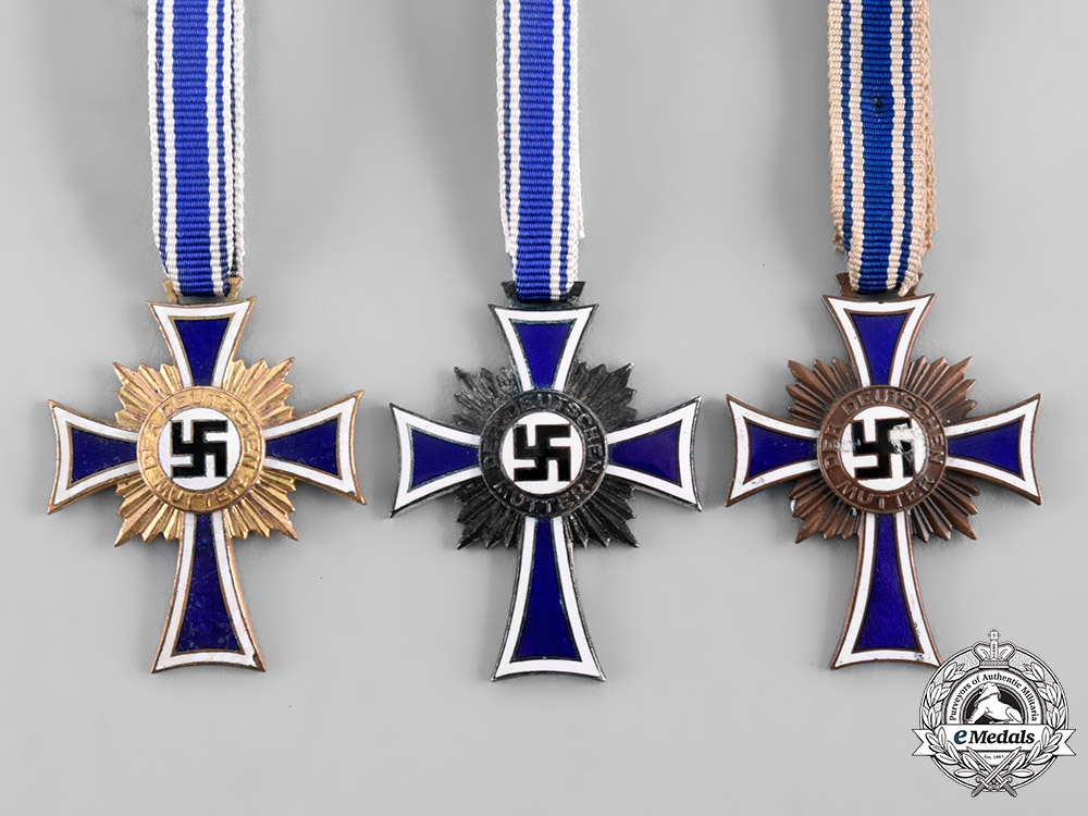 Germany, Third Reich. A Group of Honour Crosses of the German Mother, All Grades