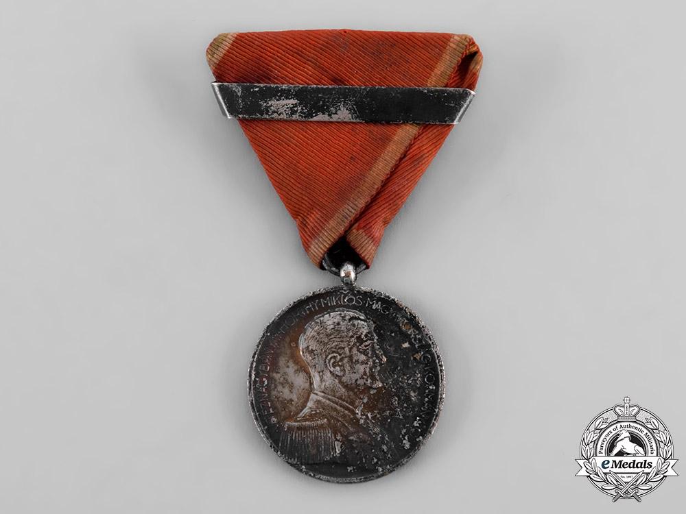 Hungary, Regency. A Bravery Medal, II Class Silver Grade, c.1943