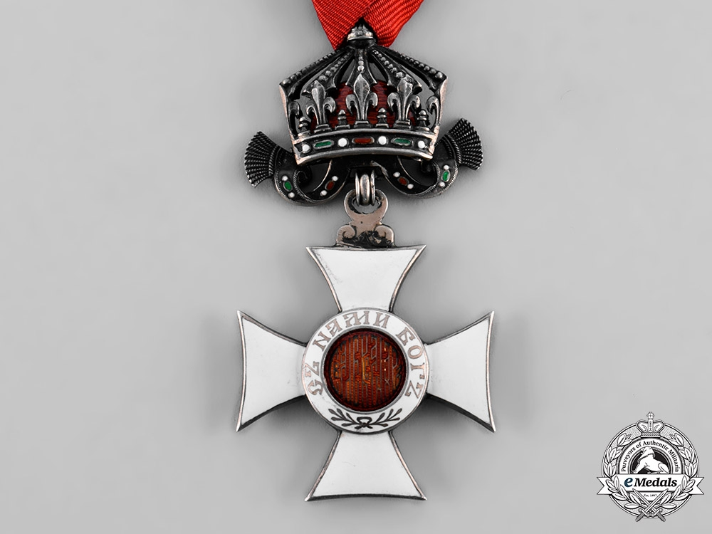 Bulgaria, Kingdom. An Order of St. Alexander, V Class Knight with Crown, c.1935