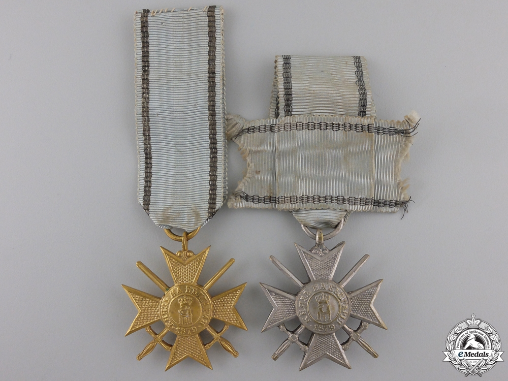 Two 1915 Bulgarian Military Orders for Bravery