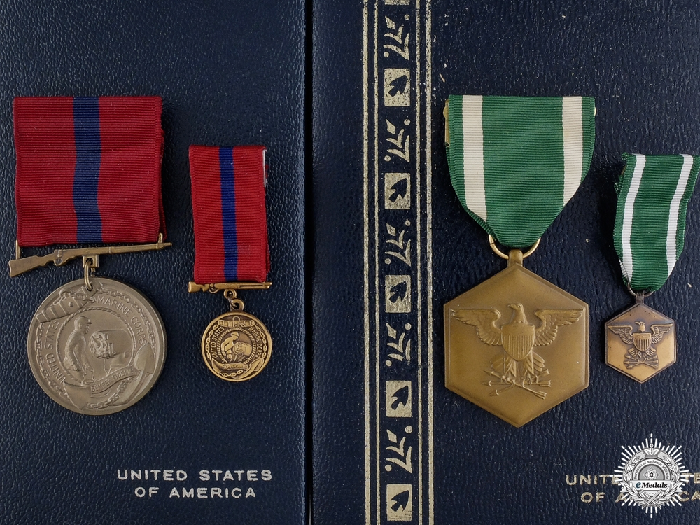 Two American Merit Medals with Case