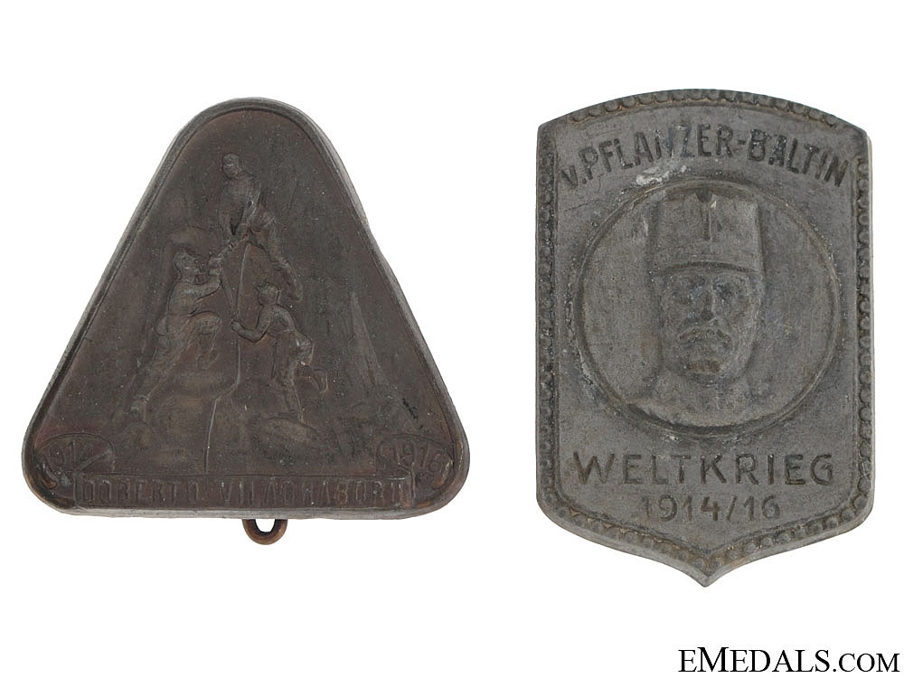 Two Austrian Badges