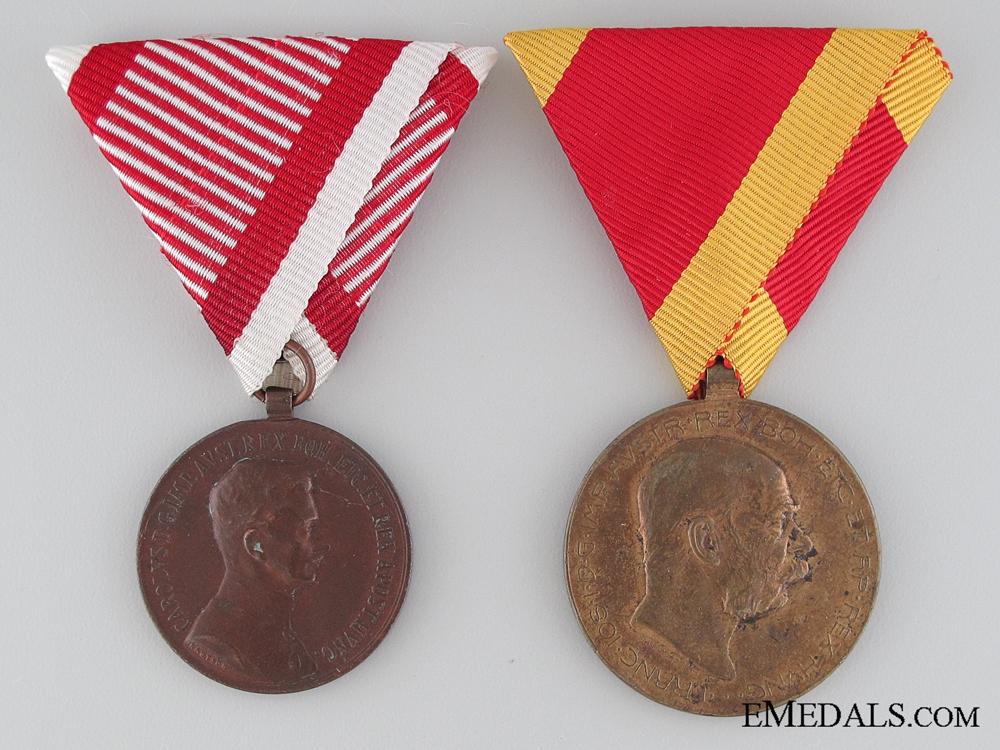 Two Austrian First War Period Medals