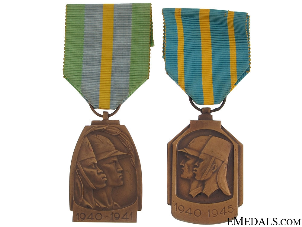 Two Belgian Campaign Medals for Africa