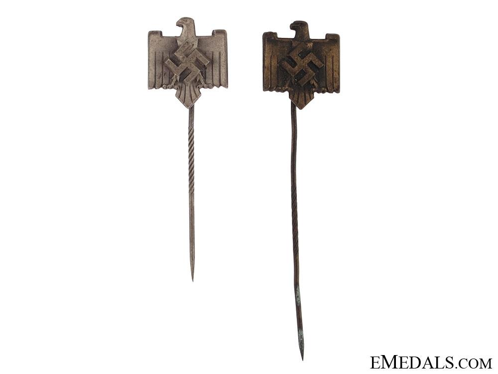 Two DRL Sports Service Stickpins
