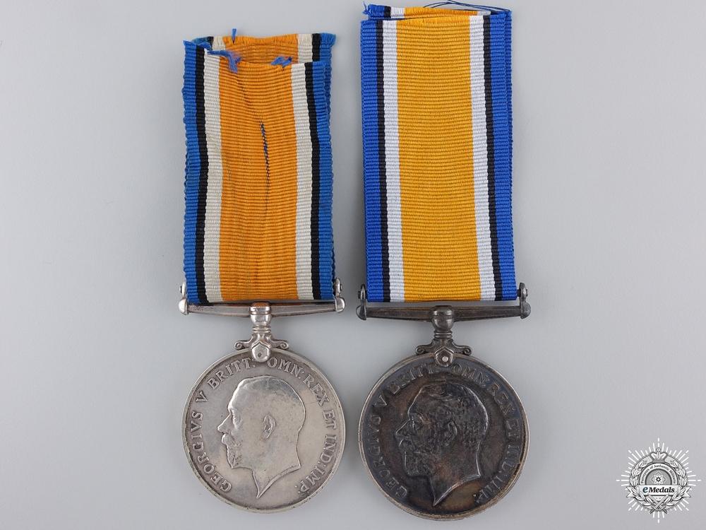 Two First War British Service Medals; Rifle Brigade & R.N.V.R.