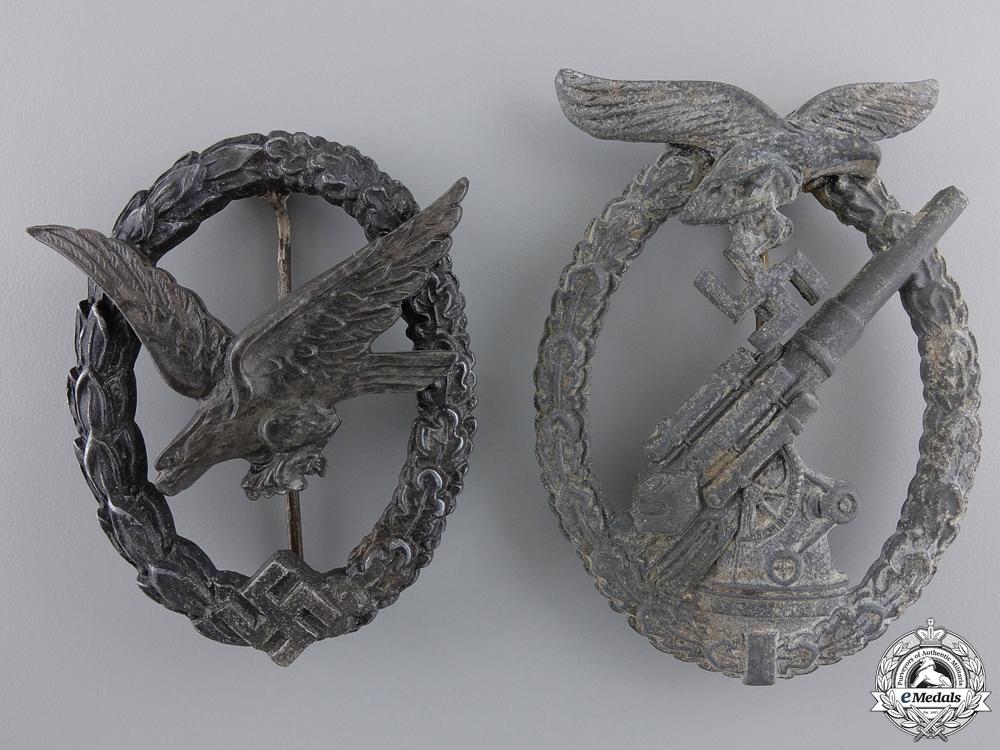 Two German Luftwaffe Badges