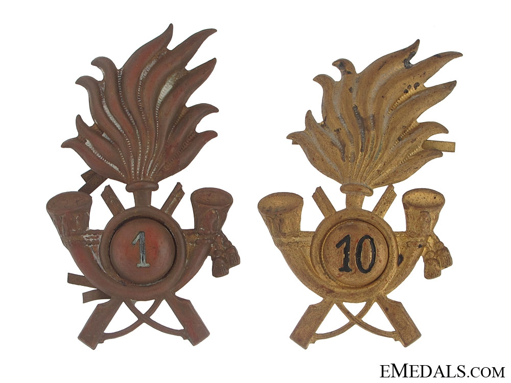 Two Italian Cavalry Badges
