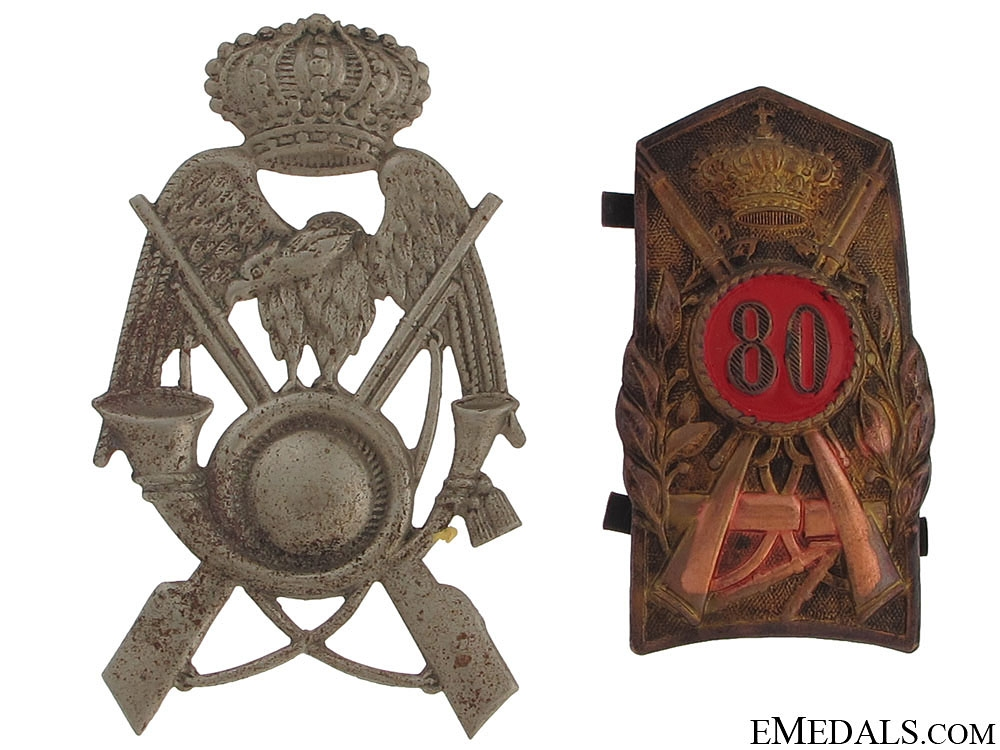 Two Italian Rifle Brigades Hat Badges