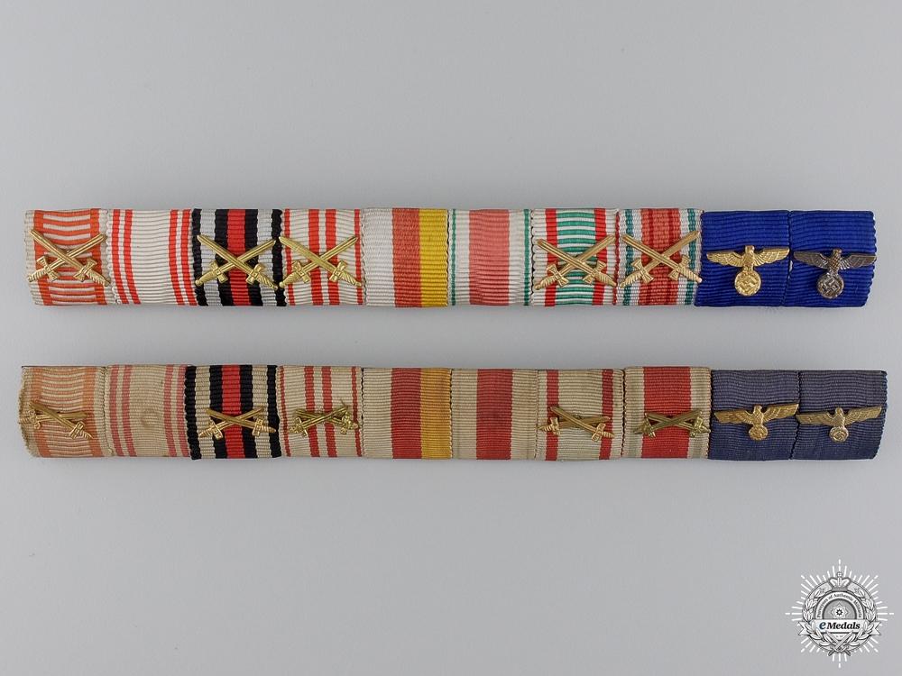 Two Long Service Austrian Ribbon Bars