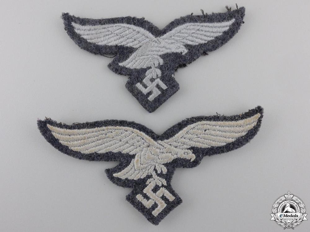 Two Luftwaffe NCO/EM Breast Eagles