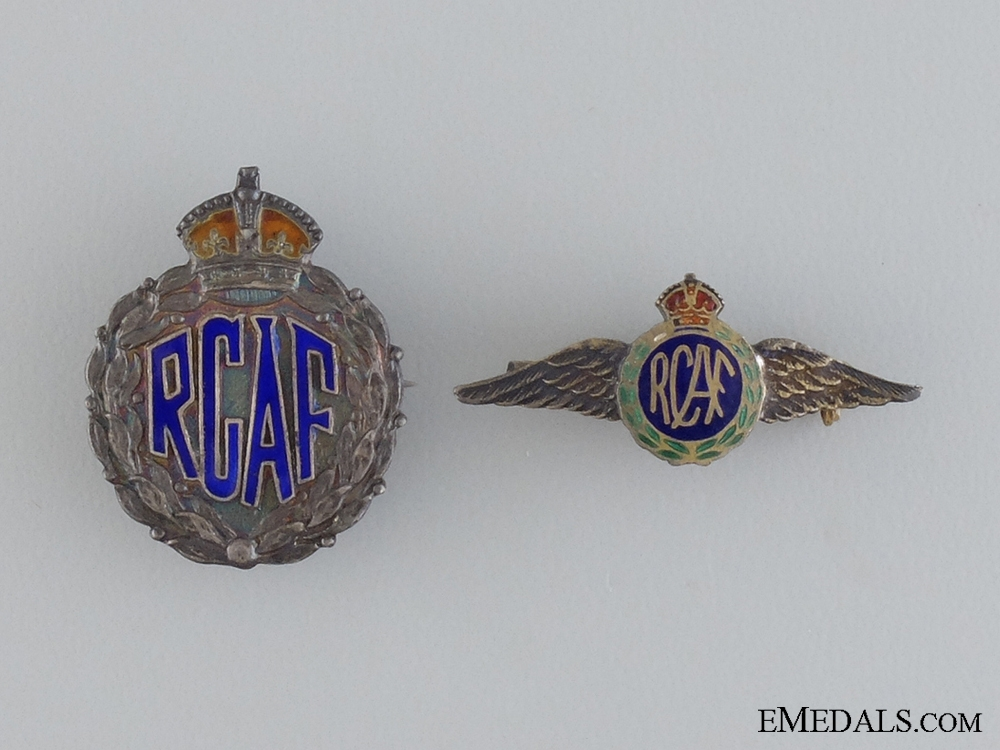 Two Royal Canadian Air Force (RCAF) Sterling Pins