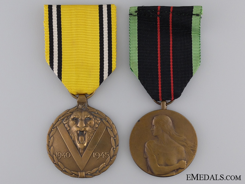 Two Second War Belgian Medals