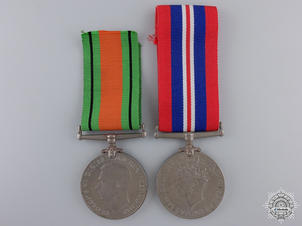 Two Second War British Issued Service Medals