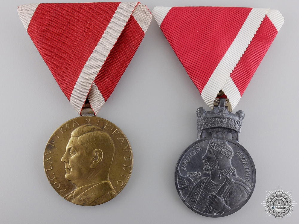 Two Second War Croatian Medals