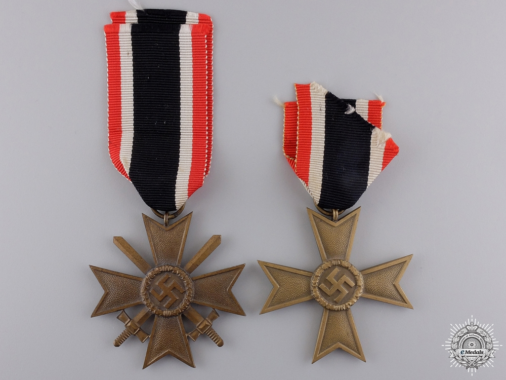 Two Second War German War Merit Crosses