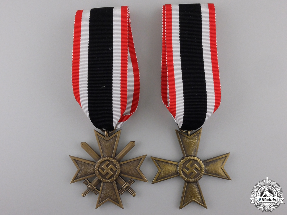 Two Second War German Merit Crosses
