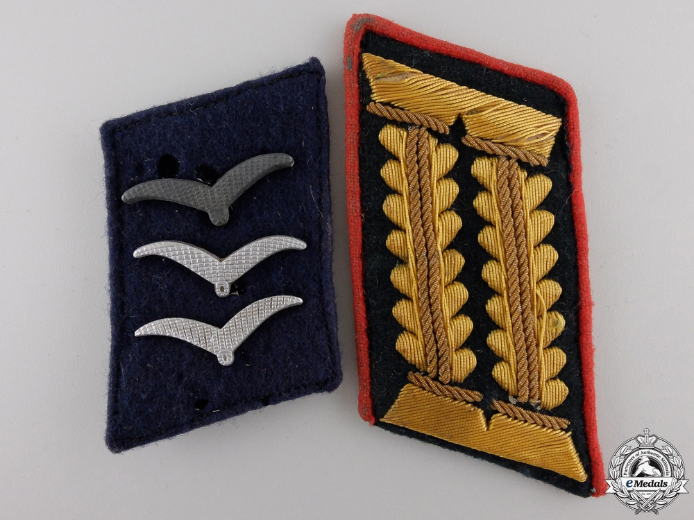 Two Second War German Collar Insignia