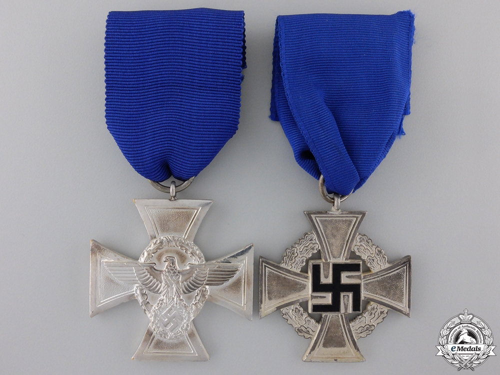 Two Second War German Service Crosses