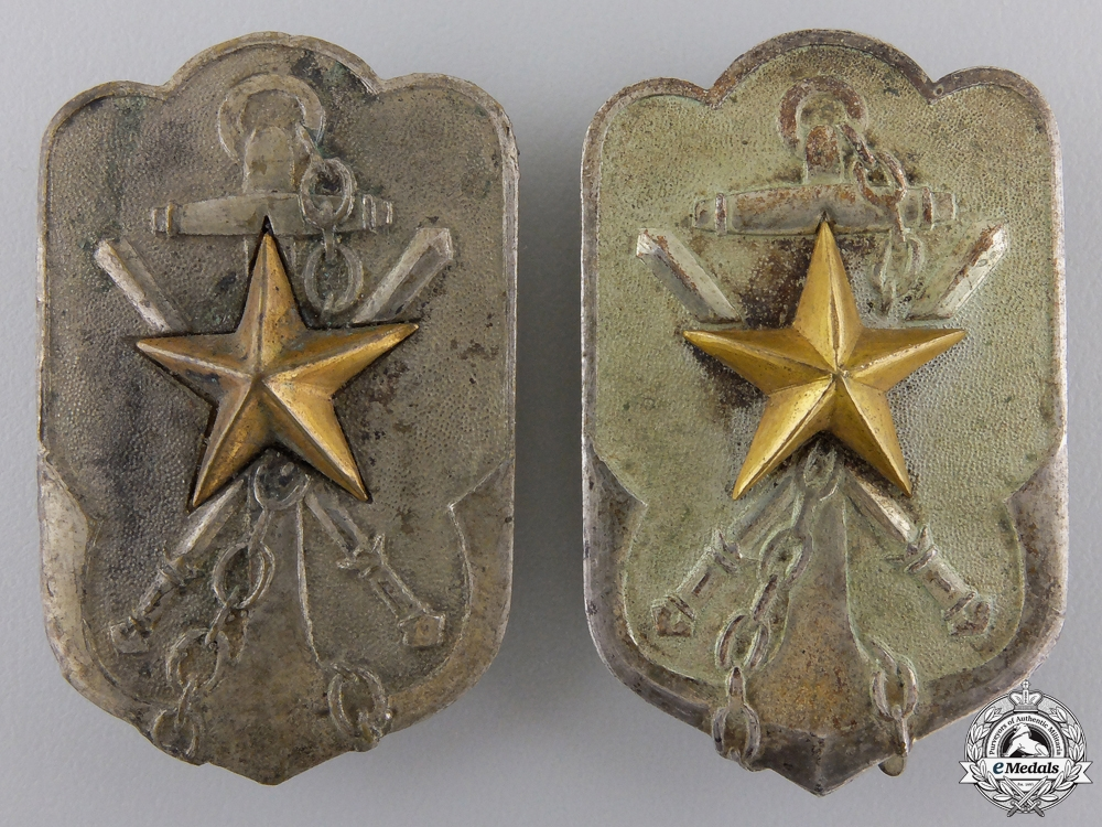 Japan, Two Second War Imperial Time Expired Soldiers League Membership Badges
